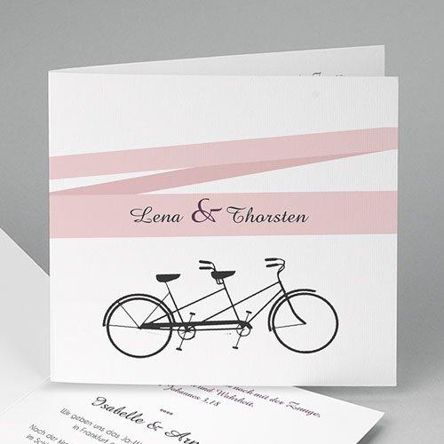 Hochzeitseinladungen modern - Tandem 44713