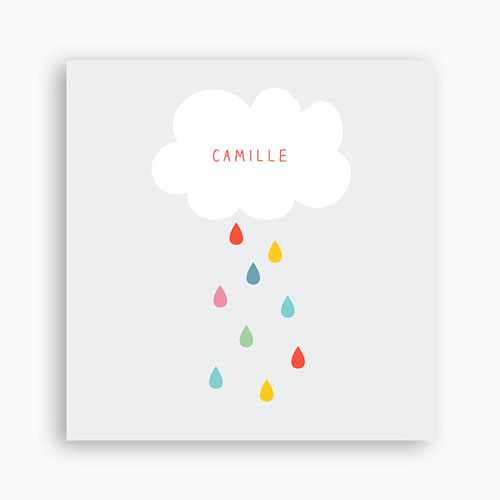 Einladungskarten Taufe Jungen  - Regenbogenfarben 44731