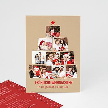 Weihnachtskarten - Foto Weihnachtsbaum - 0