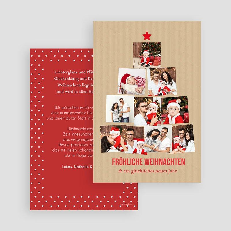 Weihnachtskarten Foto Weihnachtsbaum gratuit