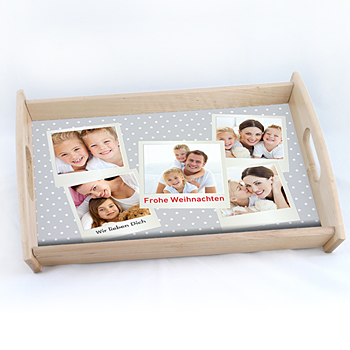 Foto-Tablett  - Babykarte Polaroid - 0