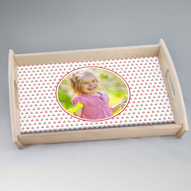 Personalisierte Foto-Tablett  Blumenwiese