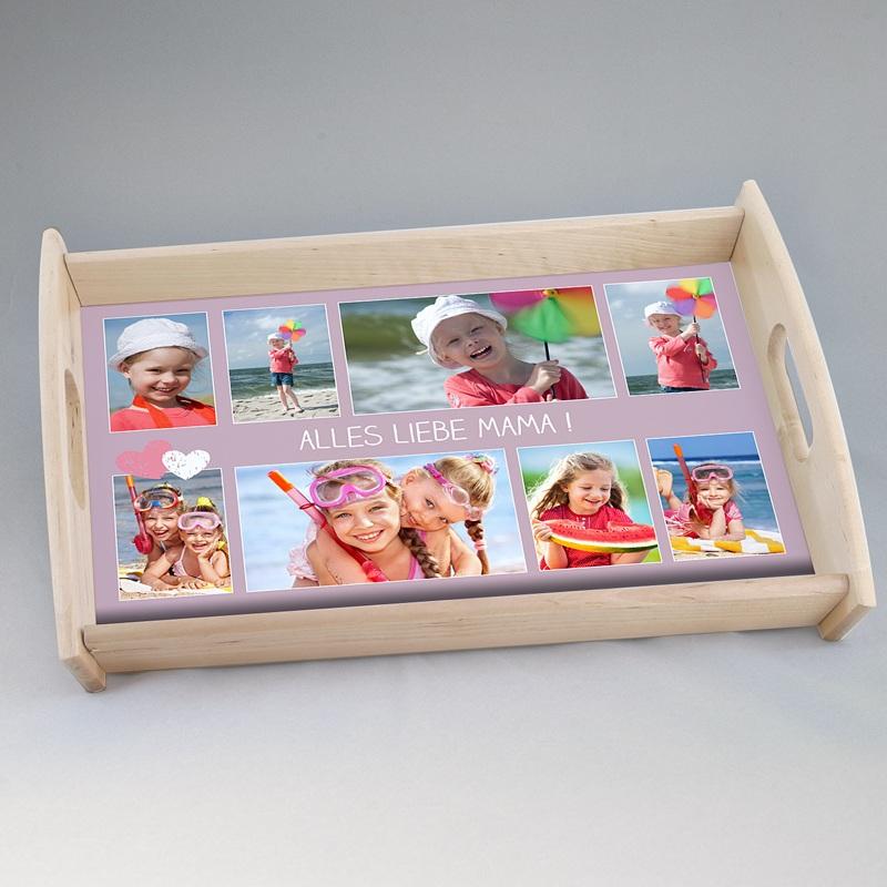 Personalisierte Foto-Tablett  Mamaherz