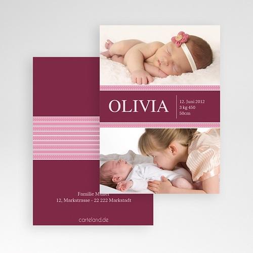 Dankeskarten Geburt Mädchen - Olivia 448 preview