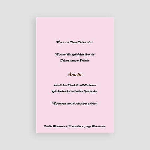 Geburtskarten für Mädchen Schlicht und modern pas cher