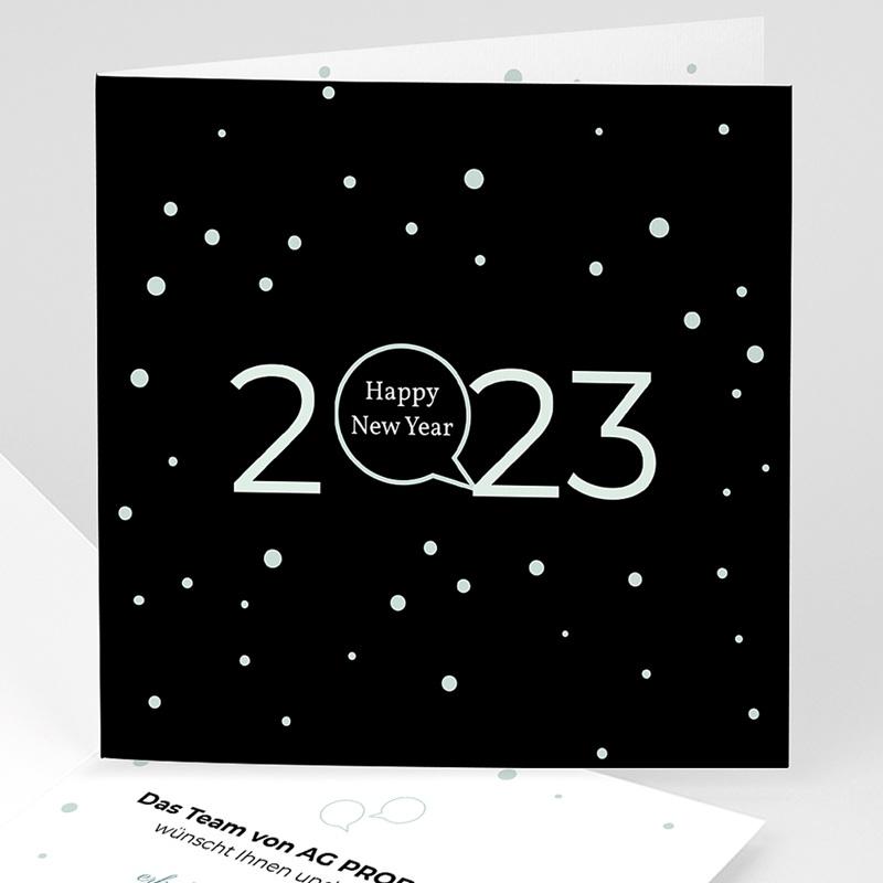 Geschäftliche Weihnachtskarten Goldenes Jahr