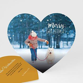 Weihnachtskarten - Herzliche Weihnachten - 0