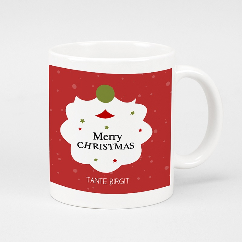 Personalisierte Fototassen Weihnachtsmannbart