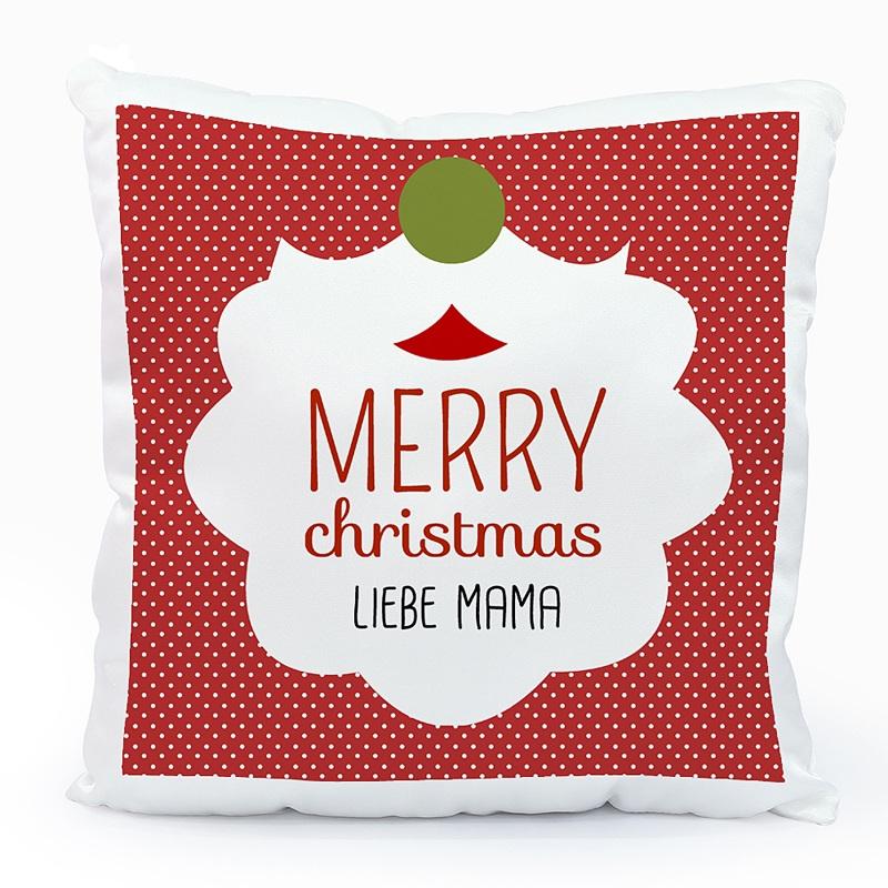Personalisierte Foto-Kissen Weihnachtskissen