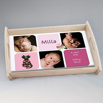 Foto-Tablett  - Geburtskarte - Multifoto - 0