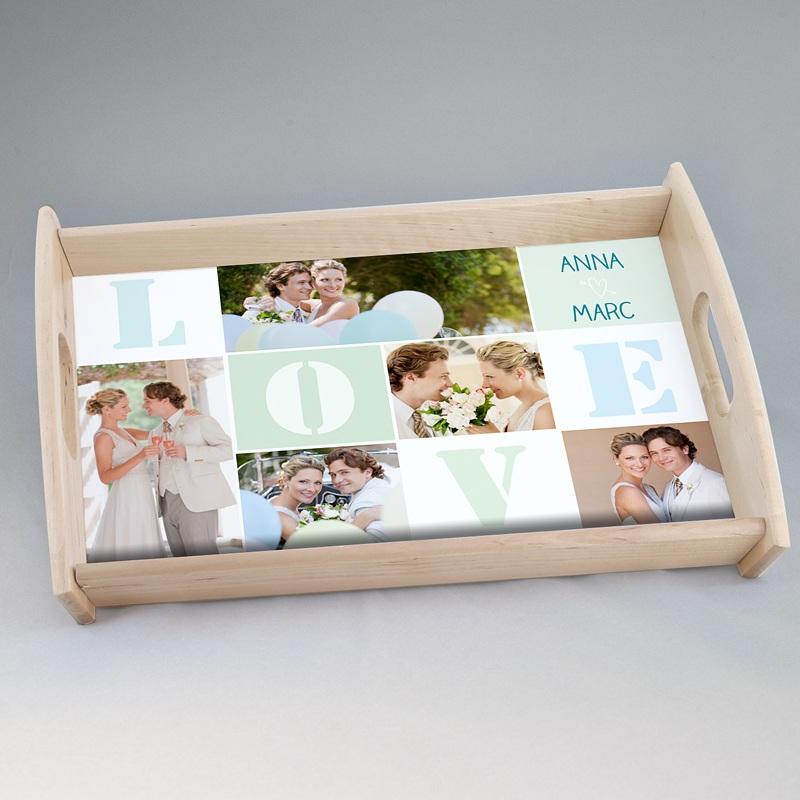 Personalisierte Foto-Tablett  Unsere Hochzeit