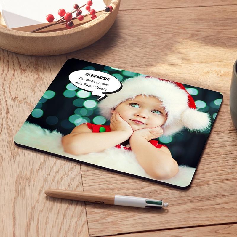 Personalisierte Foto-Mousepad Sprechblase