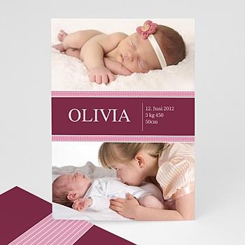 Geburtskarten für Mädchen - Babykarte Olivia - 1