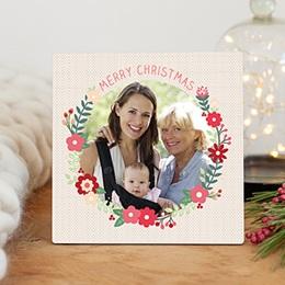 Fotorahmen Weihnachten Blühender Kranz