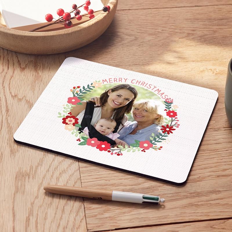 Personalisierte Foto-Mousepad Blumenkranz