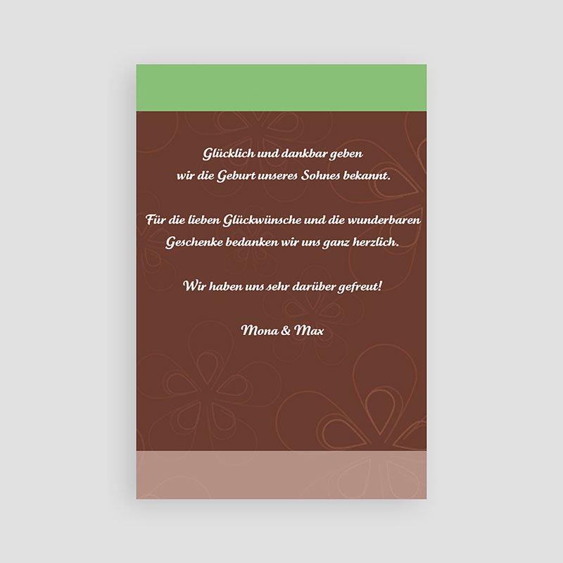 Geburtskarten für Mädchen - Anis Schokolade und Creme 4517 thumb