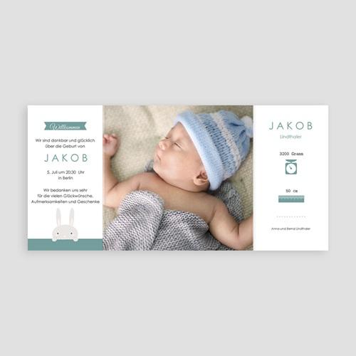 Geburtskarten für Mädchen - Hallo Hase 45183 test