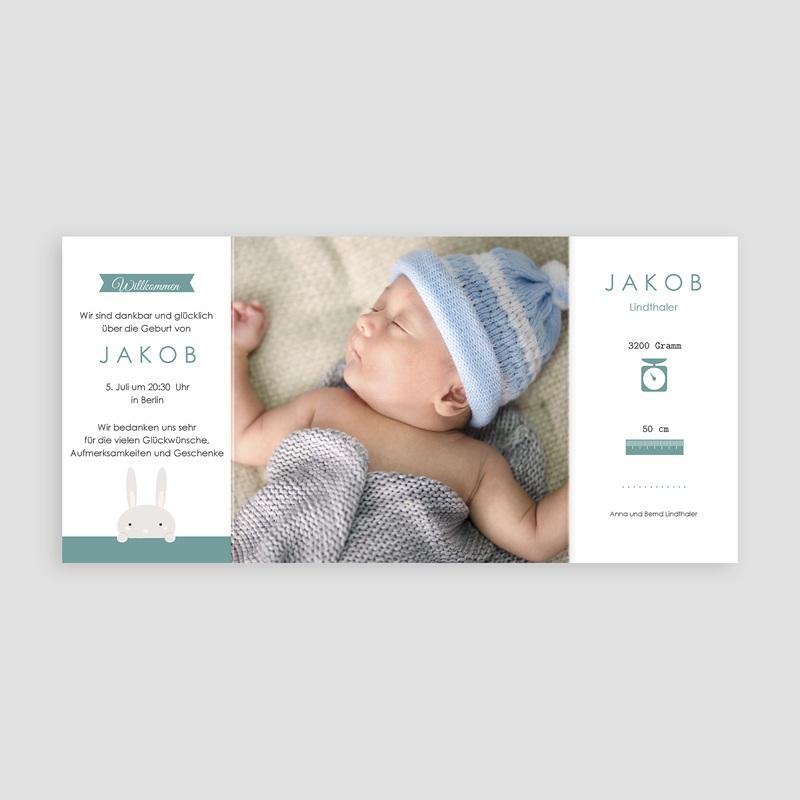 Geburtskarten mit Kaninchen Hallo Hase pas cher