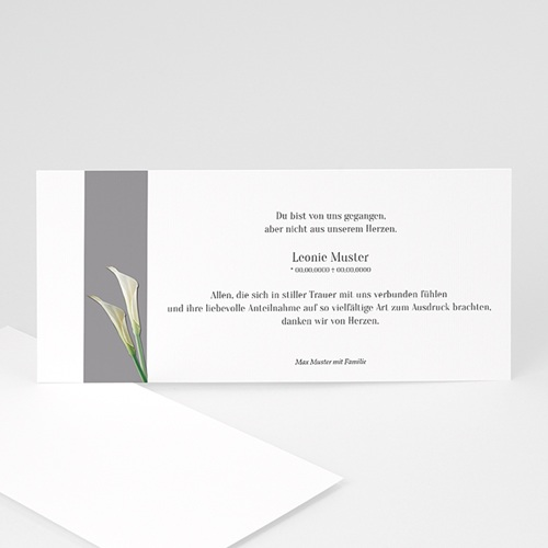 Weltlich Dankeskarten Trauer Lilien