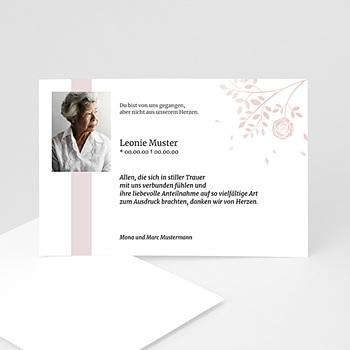 Trauer Danksagung weltlich - Schlichte Trauerkarte - 1