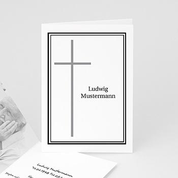 Trauer Danksagung christlich - In Erinnerung an.... in schwarz - 1