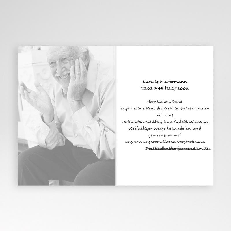 Christlich Dankeskarten Trauer Ranke pas cher