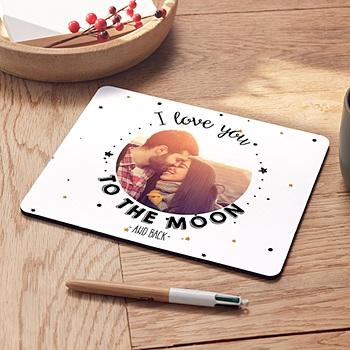 Foto-Mousepad - Bis zum Mond und wieder zurück - 0
