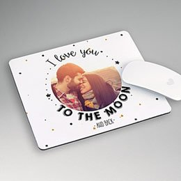 Mousepad Valentinstag Mondfahrt