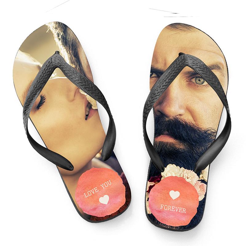 Flip-Flop mit Foto Aquarell