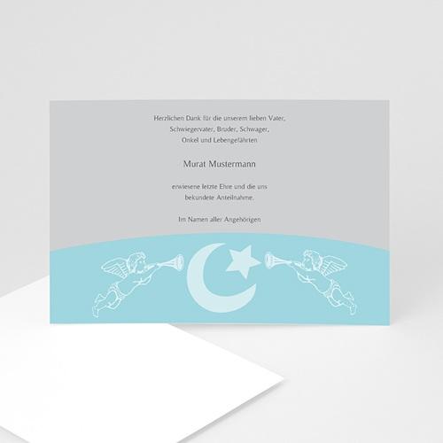 Trauer Danksagung muslimisch - Blaue Engel 4560