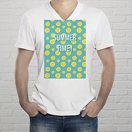 Tee-Shirt Mann Zitronengelb