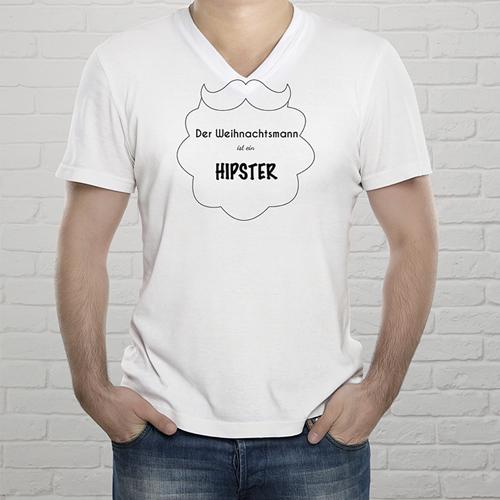 Tee-Shirt Mann Hipster Weihnachten