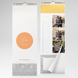 Kalender Loisirs Geschenk mit Herz