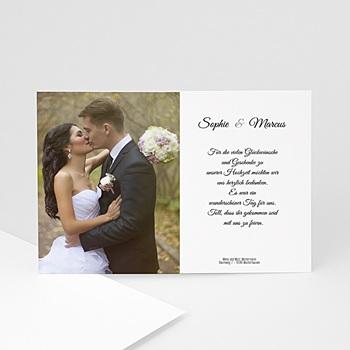 Danksagungskarten Hochzeit  - Der Bund fürs Leben - 1