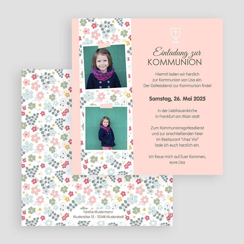 Einladungskarten Kommunion fur Mädchen Liberty gratuit