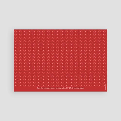 Einladungskarten Kommunion Mädchen - Rote Punkte 45827 thumb
