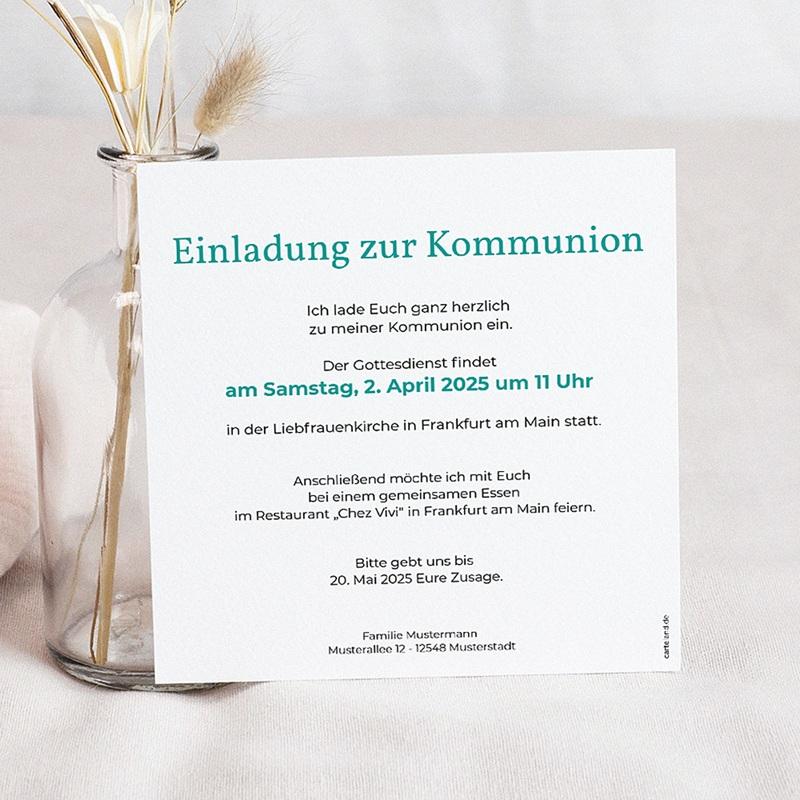 Einladungskarten Kommunion fur Jungen Zeitschrift pas cher