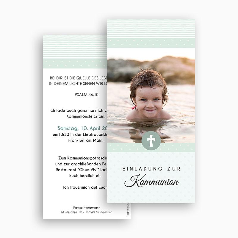 Einladungskarten Kommunion Jungen Pauline gratuit