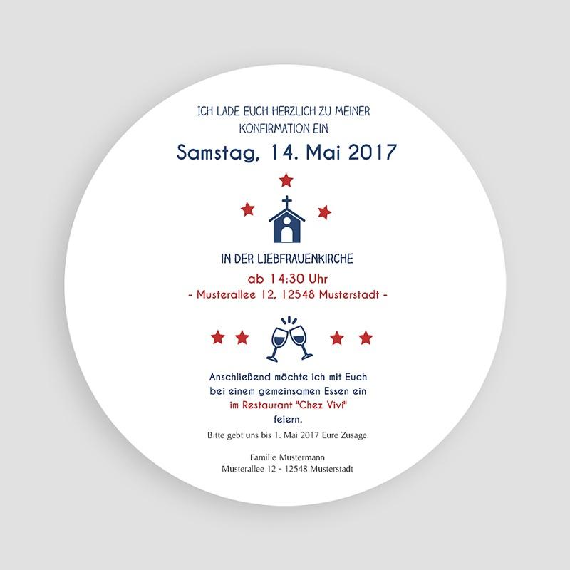 Einladungskarten Konfirmation - Sterne 45866 thumb