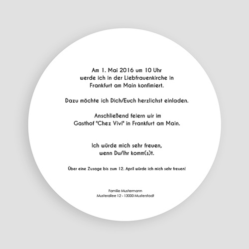 Einladungskarten Konfirmation - Bote des Friedens 45870 preview