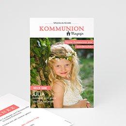 Dankeskarten Kommunion Mädchen - Das Fest - 0