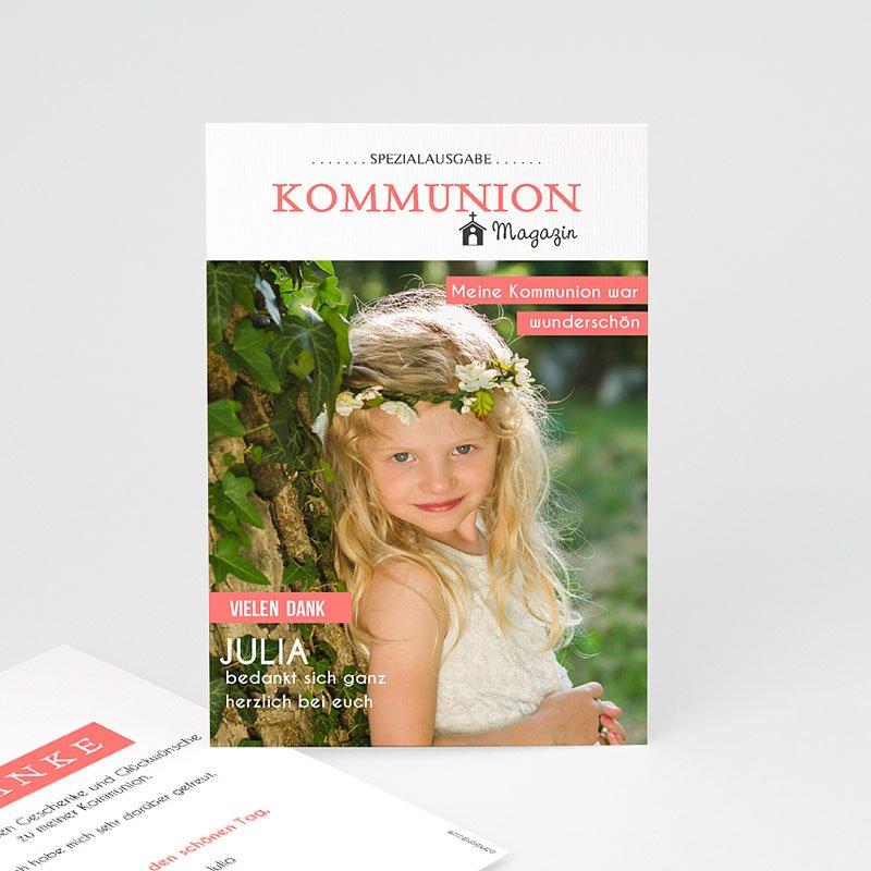Dankeskarten Kommunion Mädchen Das Fest