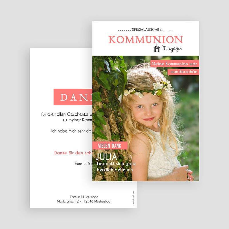 Dankeskarten Kommunion Mädchen - Das Fest 45887 thumb