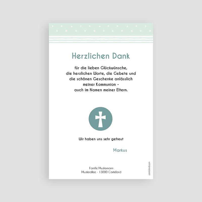 Dankeskarten Kommunion Jungen Kreisel pas cher