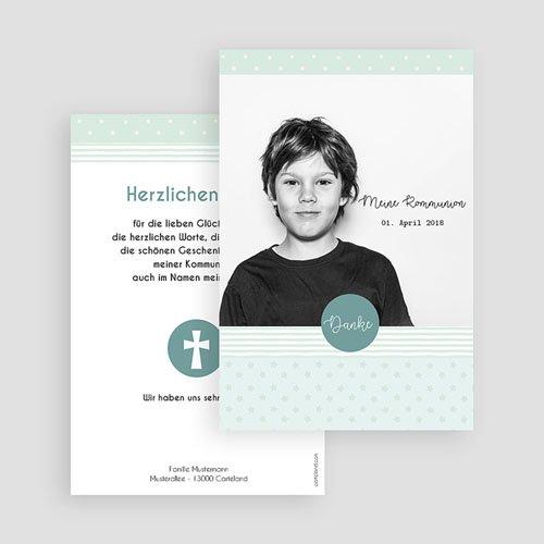 Dankeskarten Kommunion Jungen - Kreisel 45899 thumb