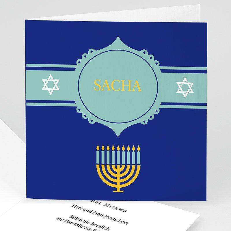 Einladungskarten Bar Mitzwah Noah