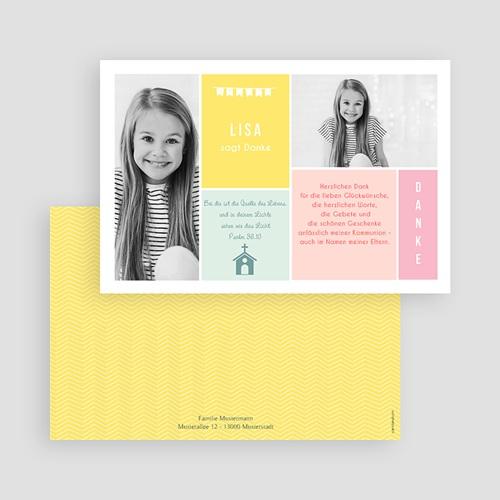 Dankeskarten Kommunion Mädchen Farben gratuit