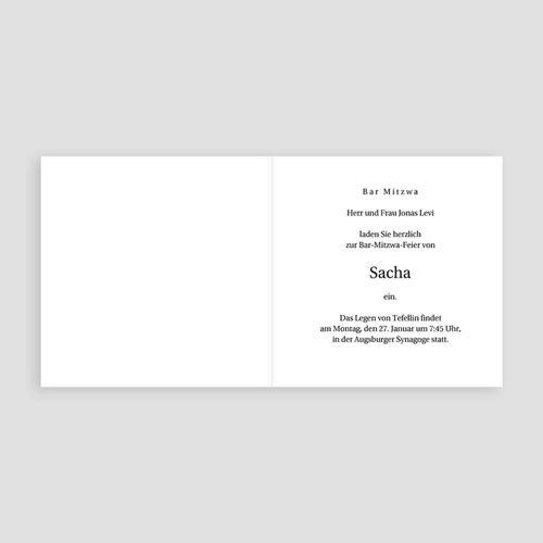 Einladungskarten Bar Mitzwah Noah pas cher