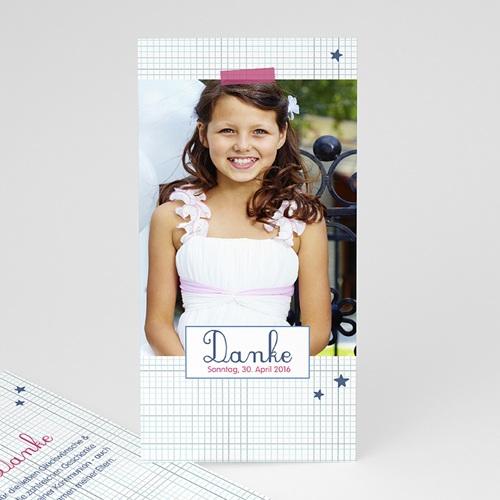 Dankeskarten Kommunion Mädchen - Hostie 45921