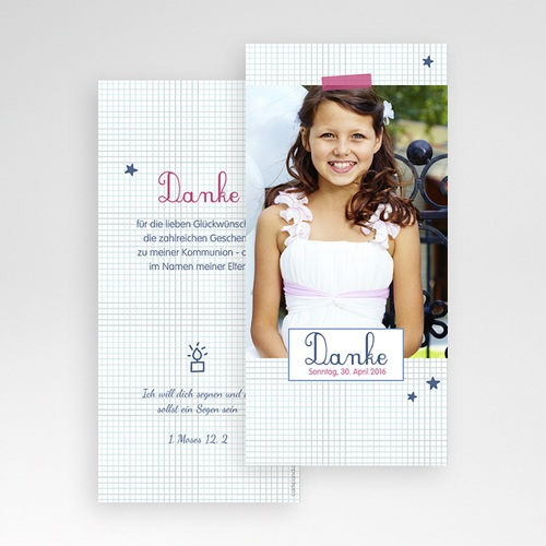 Dankeskarten Kommunion Mädchen - Hannah 45922 test